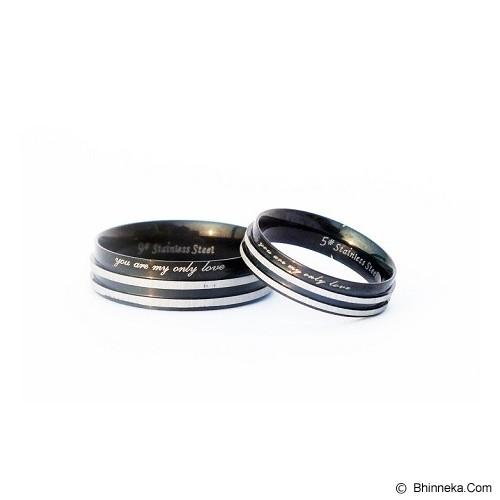 TITANIUM Cincin Couple Size 6(W) & 7(M) [CC010] - Cincin