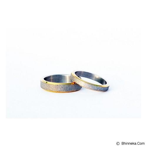TITANIUM Cincin Couple Size 6(W) & 8(M) [CC014] - Cincin
