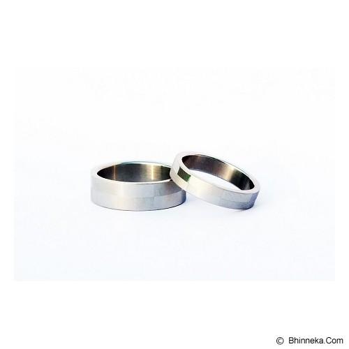 TITANIUM Cincin Couple Size 6(W) & 8(M) [CC024] - Cincin
