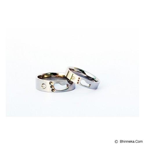 TITANIUM Cincin Couple Size 6(W) & 8(M) [CC030] - Cincin