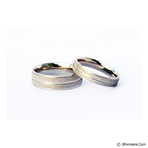 TITANIUM Cincin Couple Size 6(W) & 8(M) [CC031] - Cincin