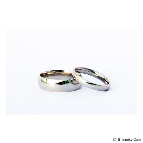 TITANIUM Cincin Couple Size 6(W) & 8(M) [CC034] - Cincin