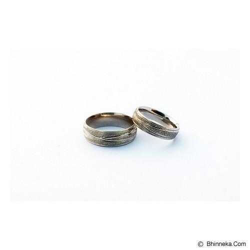 TITANIUM Cincin Couple Size 6(W) & 8(M) [CC041] - Cincin
