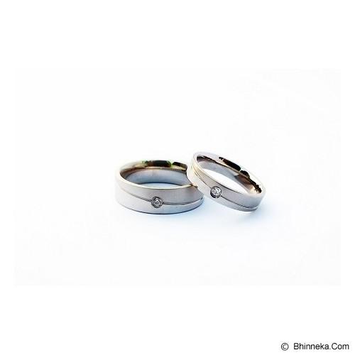 TITANIUM Cincin Couple Size 6(W) & 8(M) [CC050] - Cincin
