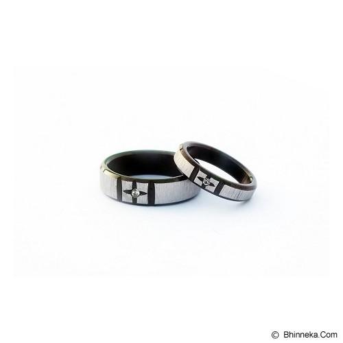 TITANIUM Cincin Couple Size 6(W) & 8(M) [CC056] - Cincin