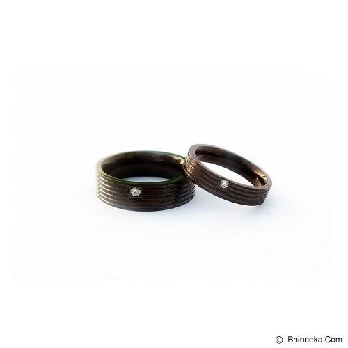 TITANIUM Cincin Couple Size 6(W) & 8(M) [CC057] - Cincin