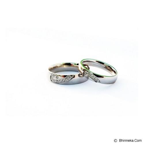 TITANIUM Cincin Couple Size 6(W) & 8(M) [CC059] - Cincin