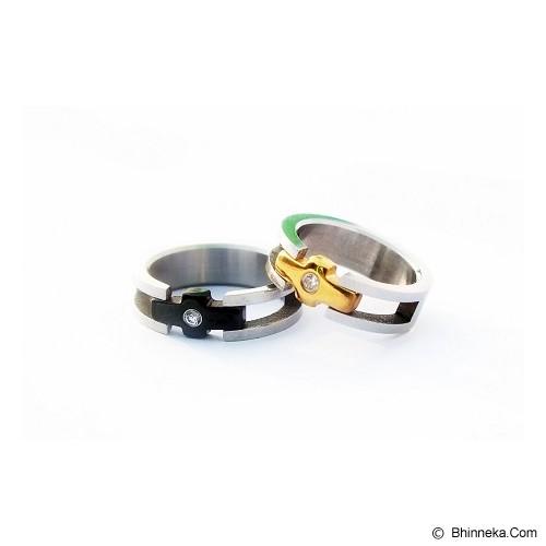 TITANIUM Cincin Couple Size 6(W) & 8(M) [CC061] - Cincin