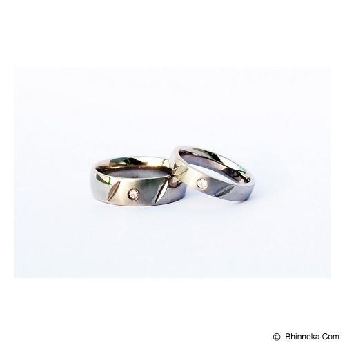 TITANIUM Cincin Couple Size 7(W) & 7(M) [CC027] - Cincin