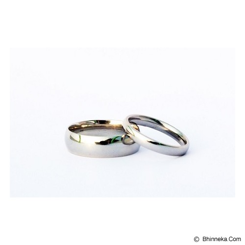 TITANIUM Cincin Couple Size 7(W) & 7(M) [CC034] - Cincin