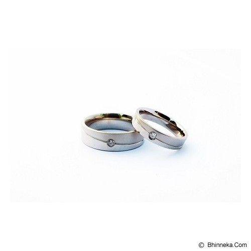 TITANIUM Cincin Couple Size 7(W) & 7(M) [CC050] - Cincin