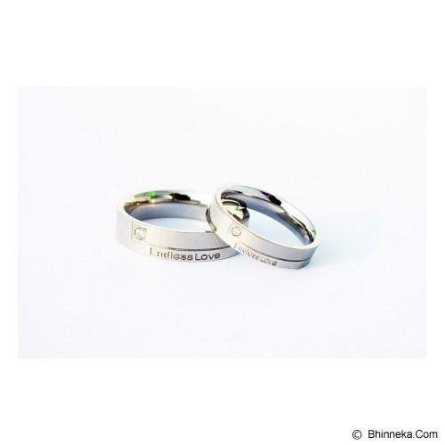 TITANIUM Cincin Couple Size 7(W) & 8(M) [CC002] - Cincin