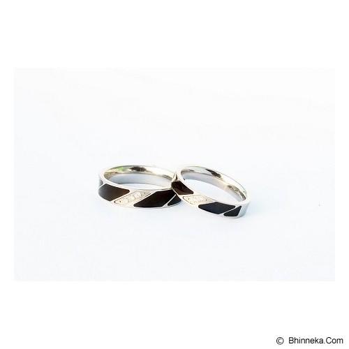 TITANIUM Cincin Couple Size 7(W) & 8(M) [CC004] - Cincin
