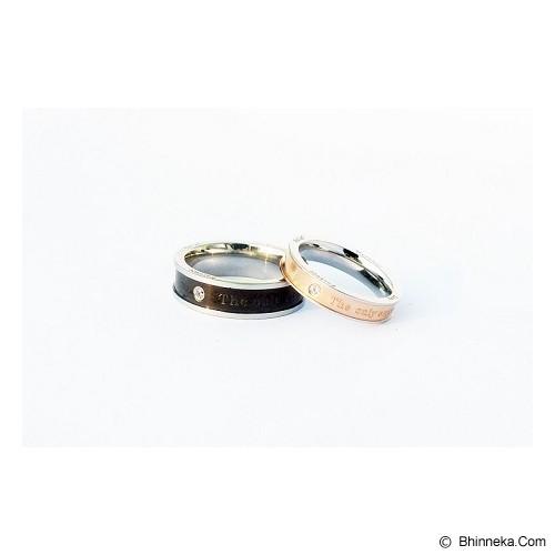 TITANIUM Cincin Couple Size 7(W) & 8(M) [CC005] - Cincin