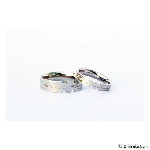 TITANIUM Cincin Couple Size 7(W) & 8(M) [CC011] - Cincin