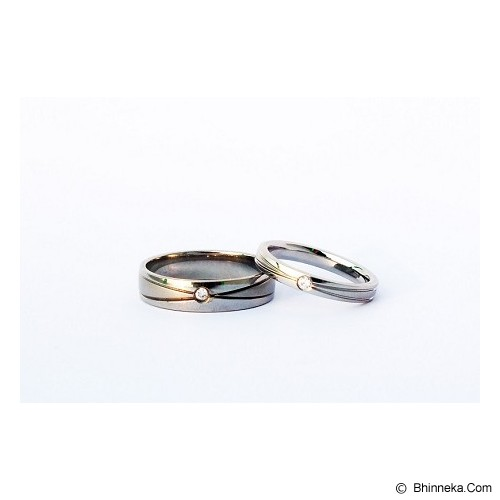 TITANIUM Cincin Couple Size 7(W) & 8(M) [CC028] - Cincin