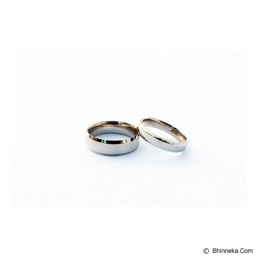 TITANIUM Cincin Couple Size 7(W) & 8(M) [CC040] - Cincin
