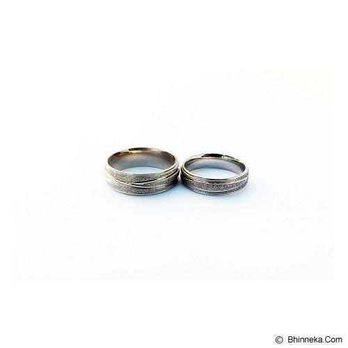 TITANIUM Cincin Couple Size 7(W) & 8(M) [CC041] - Cincin