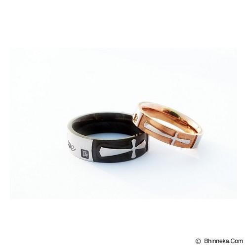 TITANIUM Cincin Couple Size 7(W) & 8(M) [CC060] - Cincin