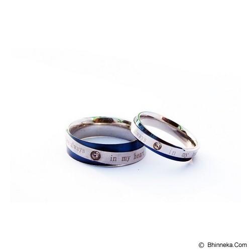 TITANIUM Cincin Couple Size 7(W) & 8(M) [CC062] - Cincin