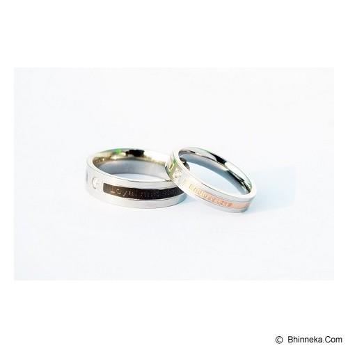 TITANIUM Cincin Couple Size 7(W) & 9(M) [CC001] - Cincin
