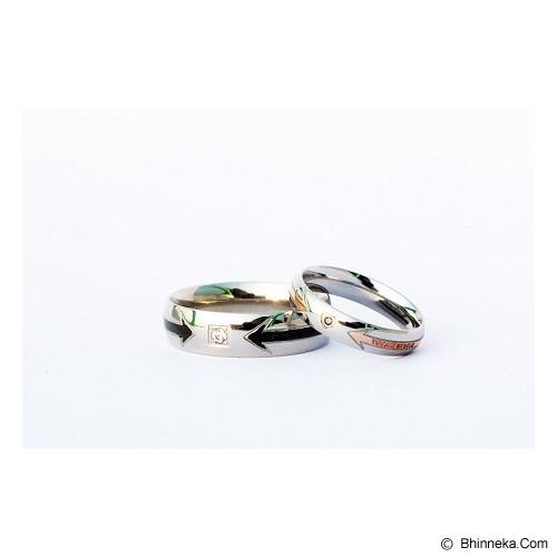 TITANIUM Cincin Couple Size 7(W) & 9(M) [CC036] - Cincin