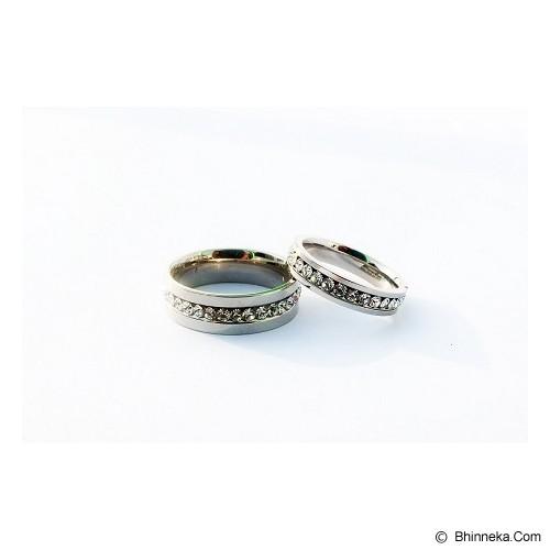 TITANIUM Cincin Couple Size 7(W) & 9(M) [CC051] - Cincin
