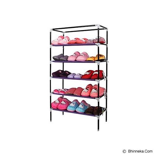 TOKO BAGUS INDO Multifunction Rack With Cover 6 Grid - Pink - Rak Serbaguna