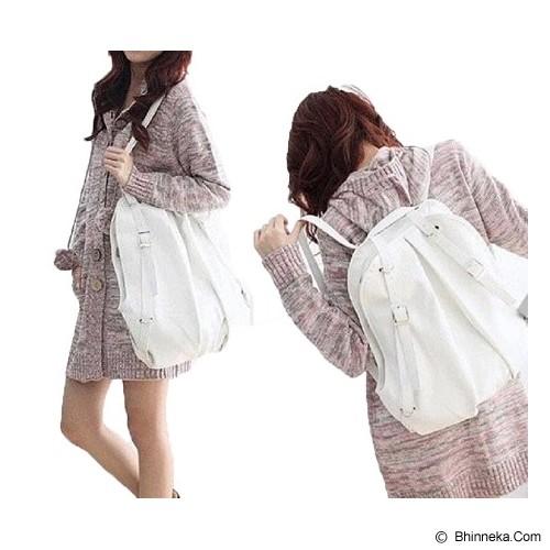 TOKO KADO UNIK Multifungtion Korean Bag 2 in 1 - Putih - Backpack Wanita