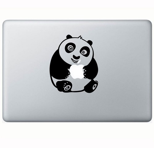 TOKO MONSTER Decal Sticker Kungfu Panda Baby Holding Apple [MAC0000781955] - Hitam - Notebook Skin