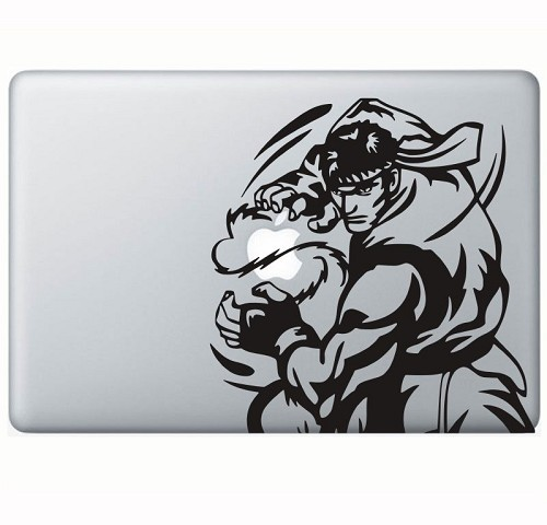 TOKO MONSTER Decal Sticker Street Fighter Ken Shogen [TMDC611-1043610991097] - Hitam - Notebook Skin