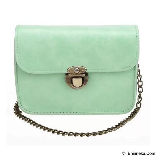 TOKO WANITA Tas Fashion Women Sweet Cross Body Evening Bags With Solid Chain - Green (Merchant) - Cross-Body Bag Wanita