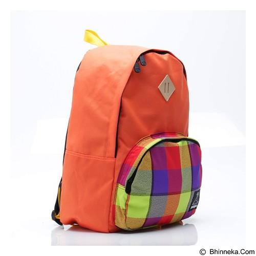 TONGA Tas Ransel Casual Motif Kotak [31OK012508] - Orange (Merchant) - Backpack Wanita