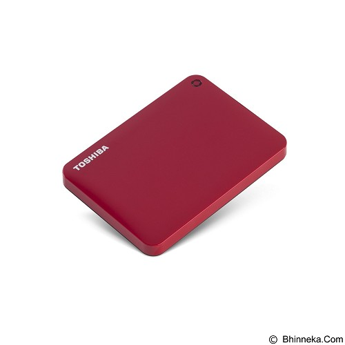 TOSHIBA Canvio Connect II Portable Hard Drive 1TB - Red - Hard Disk External 2.5 Inch