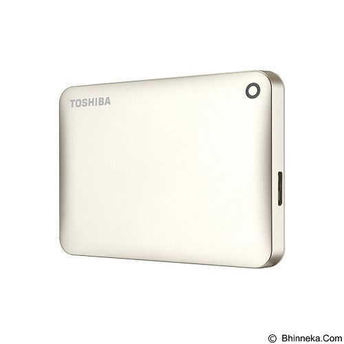 TOSHIBA Canvio Connect II Portable Hard Drive 1TB - Satin Gold - Hard Disk External 2.5 Inch