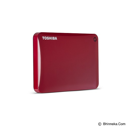 TOSHIBA Canvio Connect II Portable Hard Drive 2TB - Red - Hard Disk External 2.5 Inch