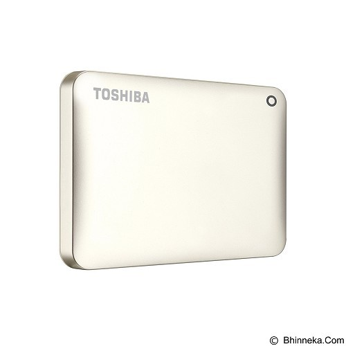 TOSHIBA Canvio Connect II Portable Hard Drive 2TB - Satin Gold - Hard Disk External 2.5 Inch