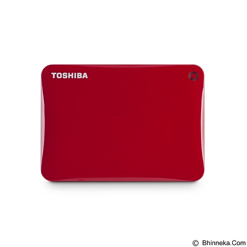 TOSHIBA Canvio Connect II Portable Hard Drive 500GB - Red - Hard Disk External 2.5 Inch