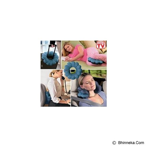 TOTAL PILLOW Support As Seen On TV - Blue - Bantal Dekorasi