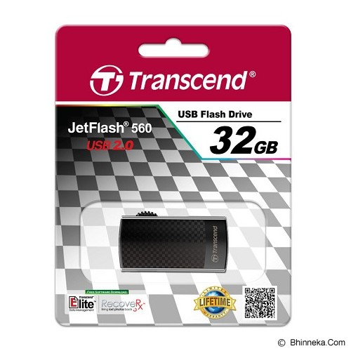 TRANSCEND JetFlash 560 Modis Style 32GB - Usb Flash Disk Basic 2.0