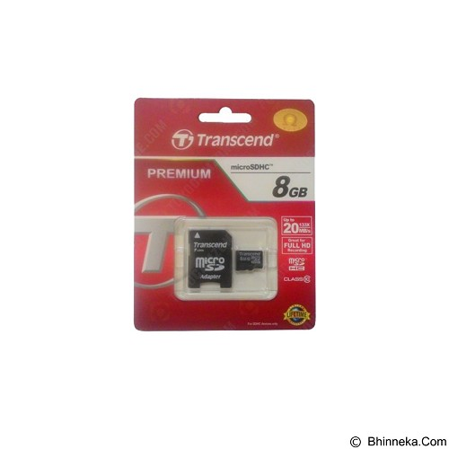 TRANSCEND Microsdhc 8GB Premium Class 10 (Merchant) - Micro Secure Digital / Micro Sd Card