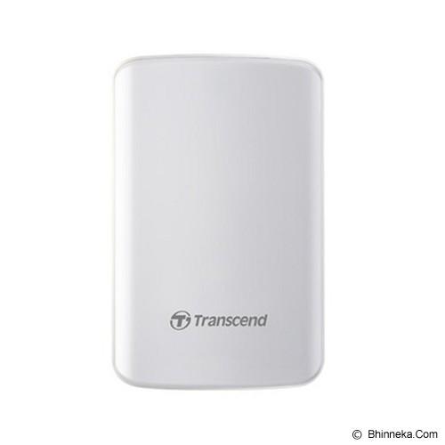 TRANSCEND StoreJet 25D3 USB 3.0 1TB - White (Merchant) - Hard Disk External 2.5 Inch