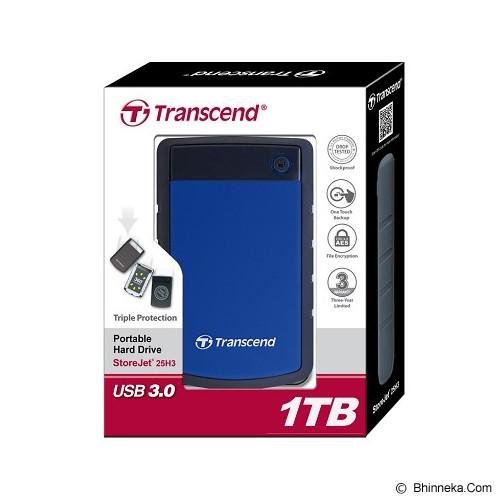 TRANSCEND StoreJet 25H3 1TB Anti Sock Design - Blue (Merchant) - Hard Disk External 2.5 inch