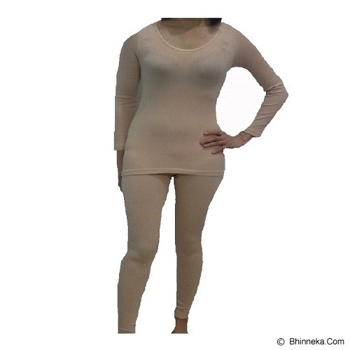 TRAVELHOLIX Baju Musim Dingin Longjohn Wanita Size S - Krem - Kaos Wanita