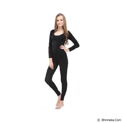 TRAVELHOLIX Baju Musim Dingin Longjohn Wanita Size XL - Hitam - Kaos Wanita