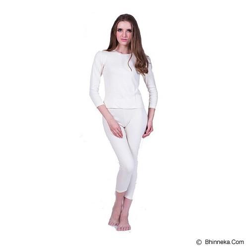 TRAVELHOLIX Baju Musim Dingin Longjohn Wanita Size XL - Putih - Kaos Wanita