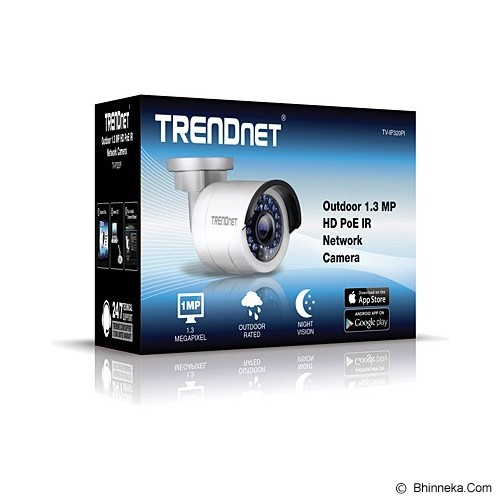 TRENDNET Outdoor 1.3 MP HD PoE IR Network Camera [TV-IP320PI] - Ip Camera