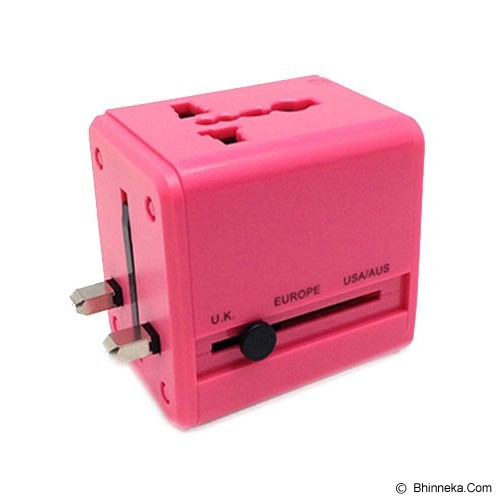 TRENDS Universal Adapter 2 in 1 - Pink - Universal Travel Adapter