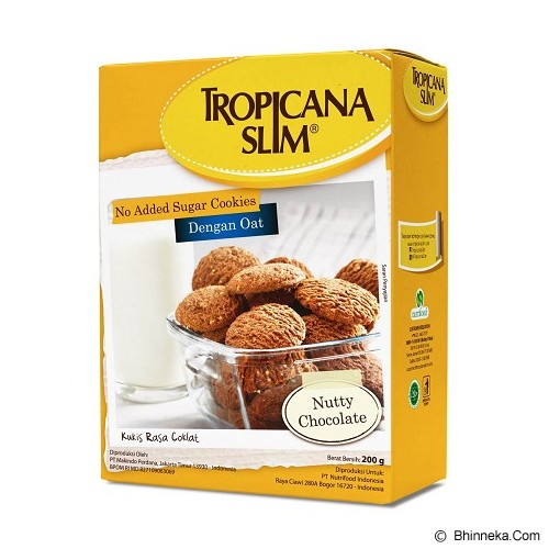 TROPICANA SLIM Cookies Nutty Chocolate - Biskuit & Waffer