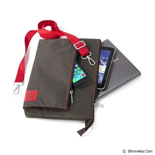 TUCANO Lampo Slim Bag [BLAM-G] - Grey (Merchant) - Notebook Shoulder / Sling Bag